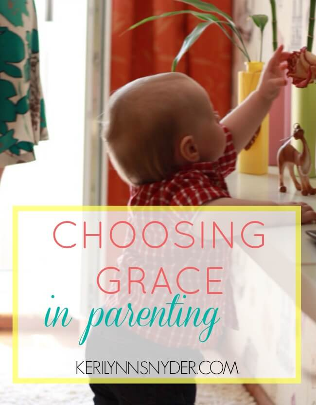 Learning how we can focus on choosing grace as a parent