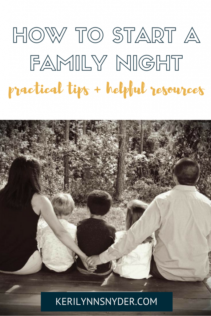 Practical Tips to start a family night. #familynight