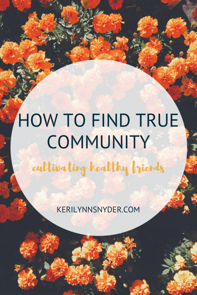 How to build a healthy community of friends
