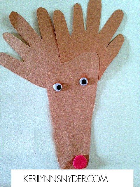 Easy Kids Christmas Crafts- Reindeer