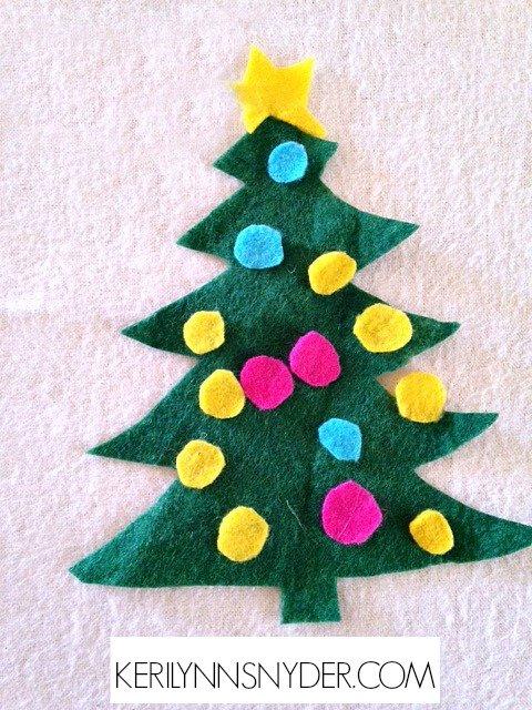 Easy Kids Christmas Crafts- Felt Christmas Tree