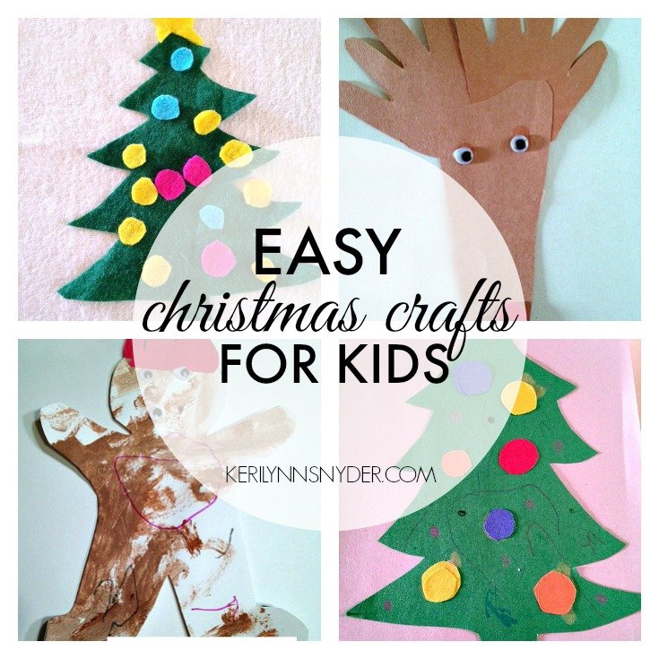 Easy Kids Christmas Crafts-
