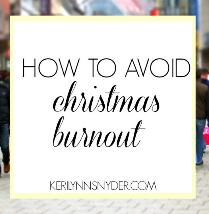 How to avoid Christmas burnout