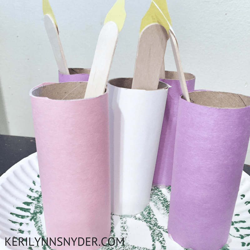 Make your own DIY advent candles, perfect activity for families during Christmas