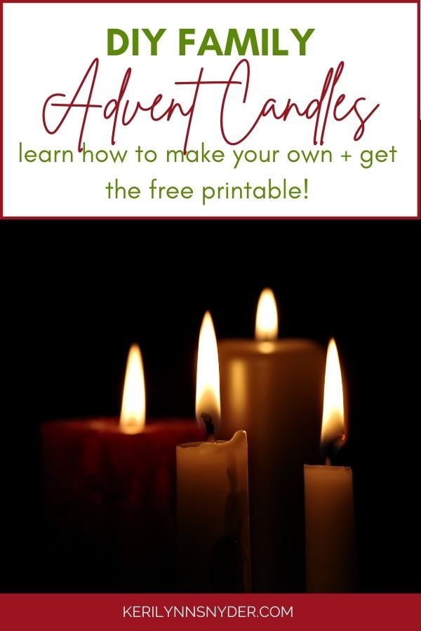 Make your own family advent candles this Christmas. Get the free printable verses to use with the candles.