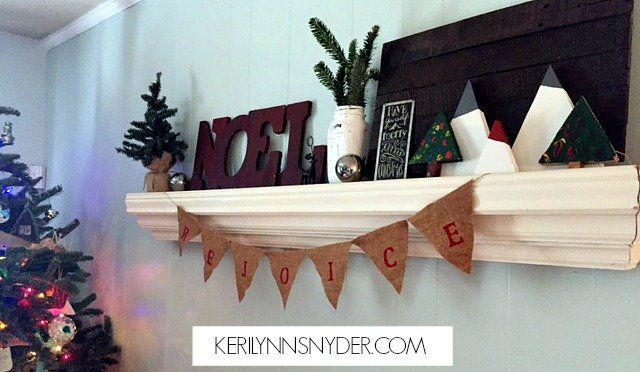 Easy Christmas Craft for Kids and Moms- Simple DIY tutorial for Wooden Christmas Tree Decor