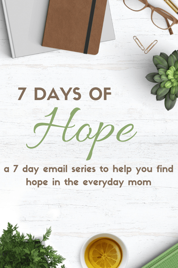 An email series of encouragement and hope