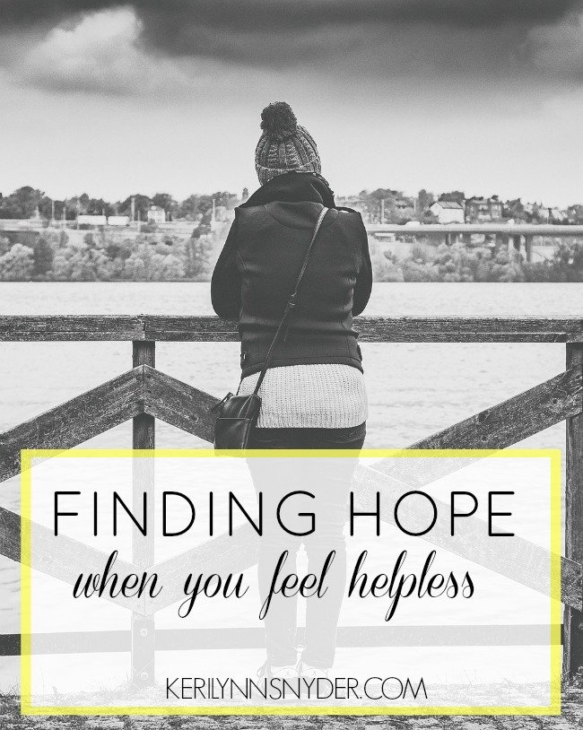 How we are finding hope when the world is broken, hope for the hurting