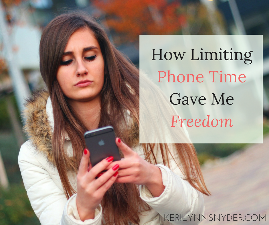 Limit phone time to gain freedom