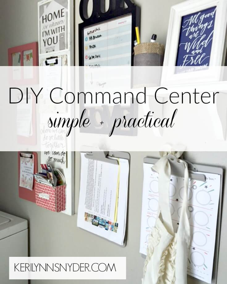Learn how to make a command center for your home