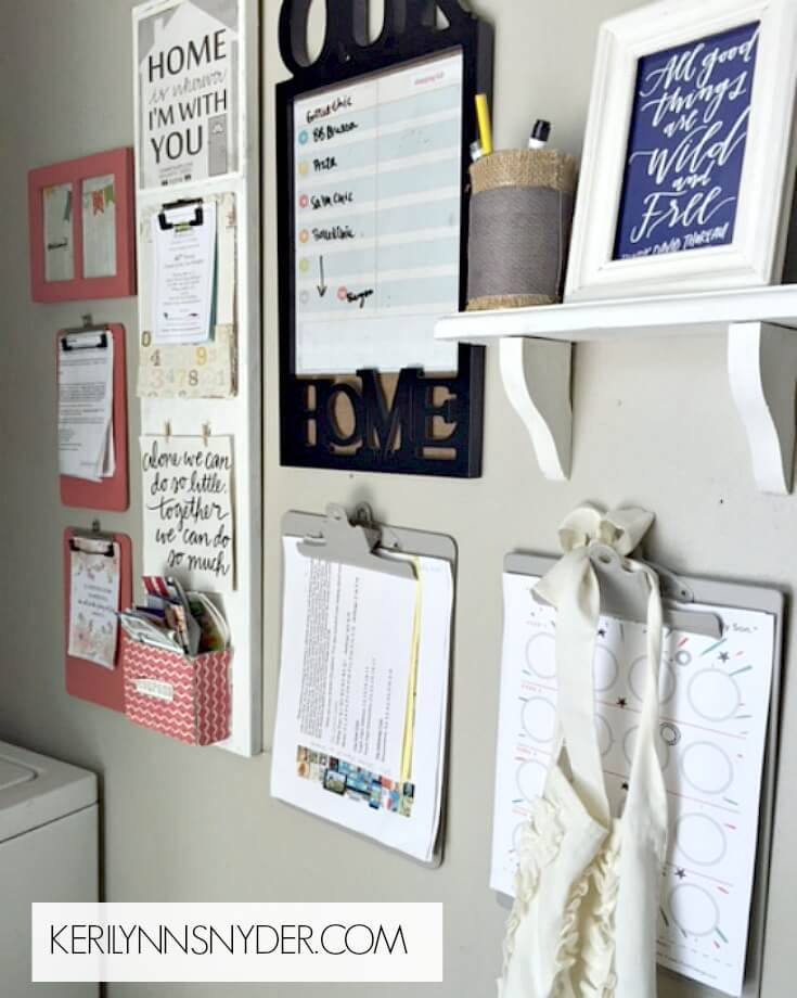 Learn how to put together a simple command center to help your home stay organized.