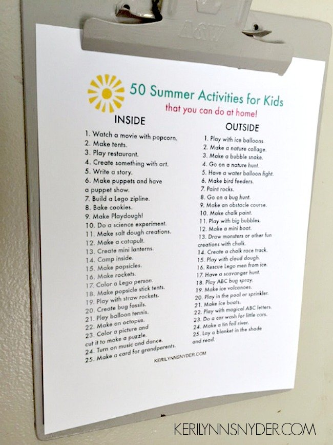 50 Summer Activities for Kids to help you beat boredom!