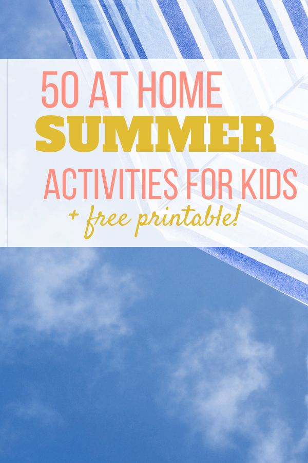 Summer activities for kids, free printable download
