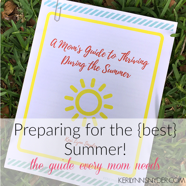 Summertime Tips for Moms