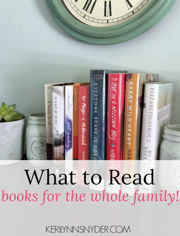 What is your family reading? These books are perfect for your whole family!