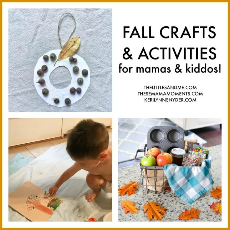Easy fall wreath for kids, kid friendly fall wreath, acorn fall wreath, easy fall activity for kids