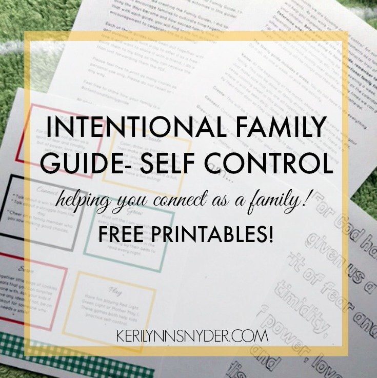 Intentional Family Guide: Self Control