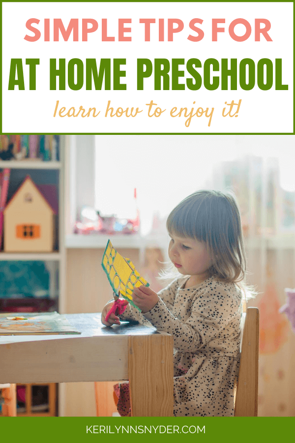 Learn how to have preschool at home with these simple tips!