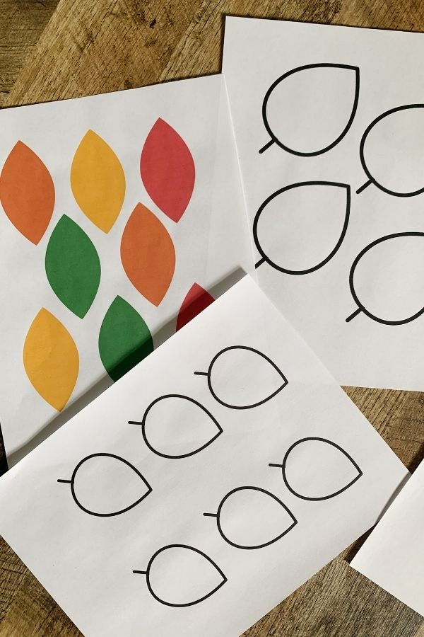 Use these printable leaves for your thankful tree.