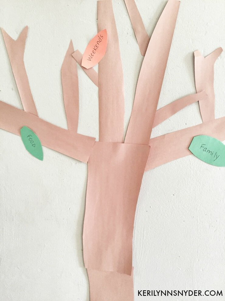 How to make a thankful tree, family night activity