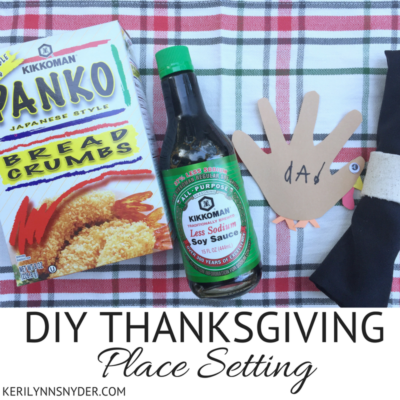 DIY Thanksgiving Place Setting + Stuffing Recipe