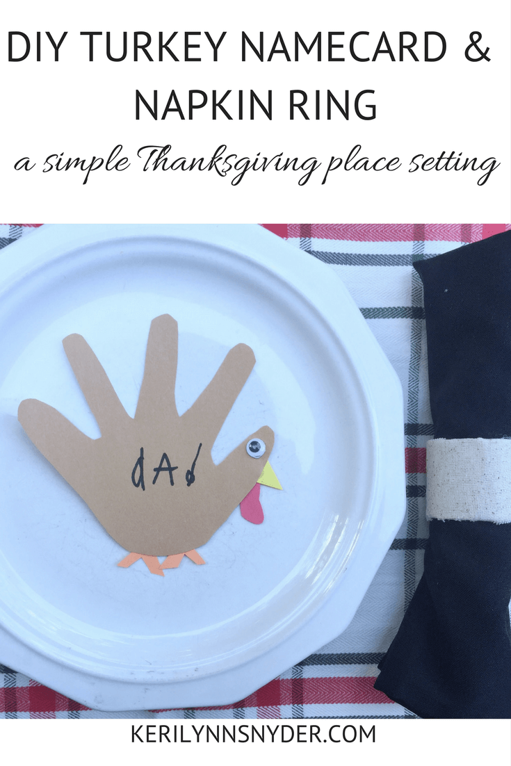 DIY Thanksgiving Place Setting, Napkin Ring, Name Cards