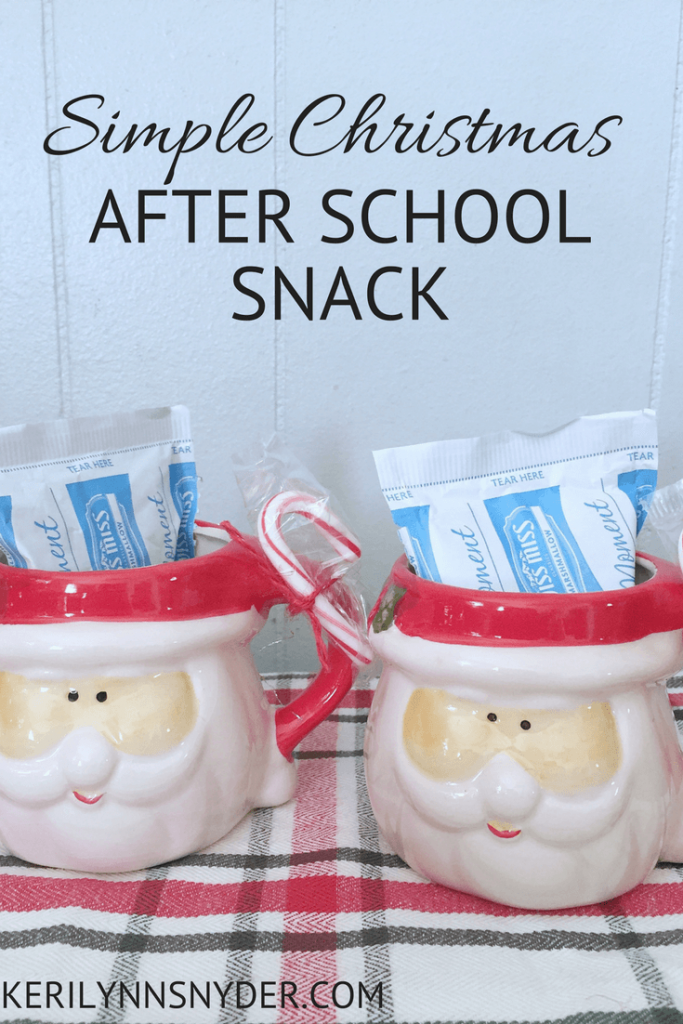 Simple Christmas after school snack, hot chocolate snack, Christmas treat