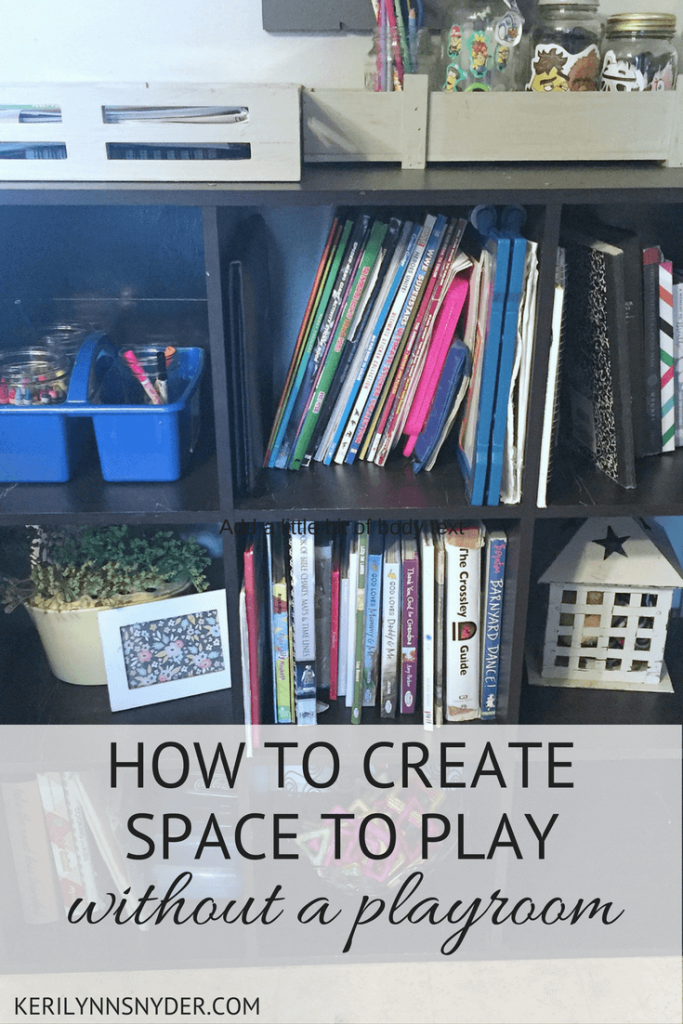How to create space to play without a playroom