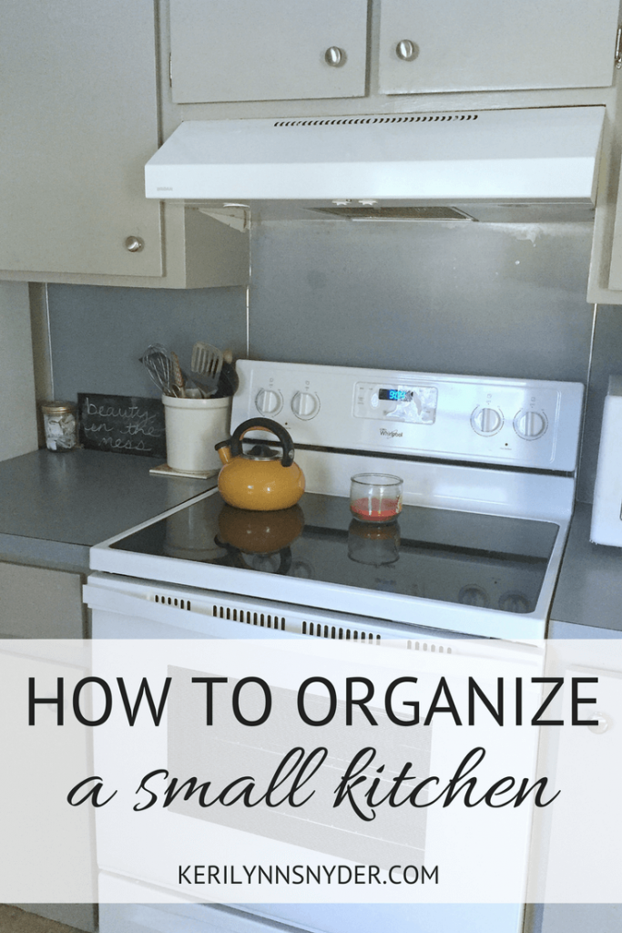 How to organize a small kitchen, clear the clutter challenge, declutter your kitchen