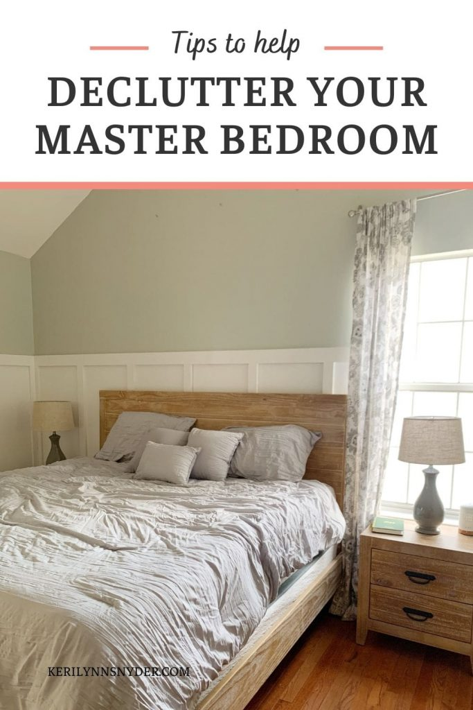 Learn how to declutter a master bedroom with these tips!
