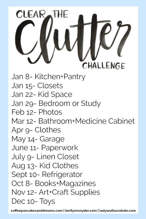 Clear the Clutter Challenge and Link Party, Organization Challenge