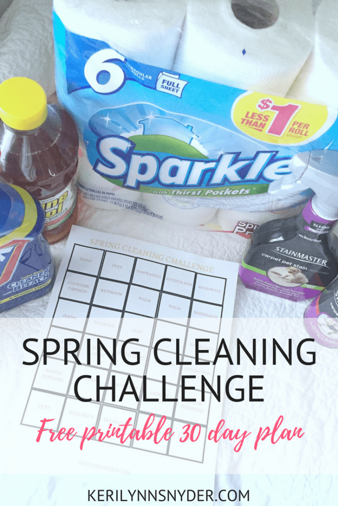 Spring Cleaning Challenge, Spring Cleaning Free Printable