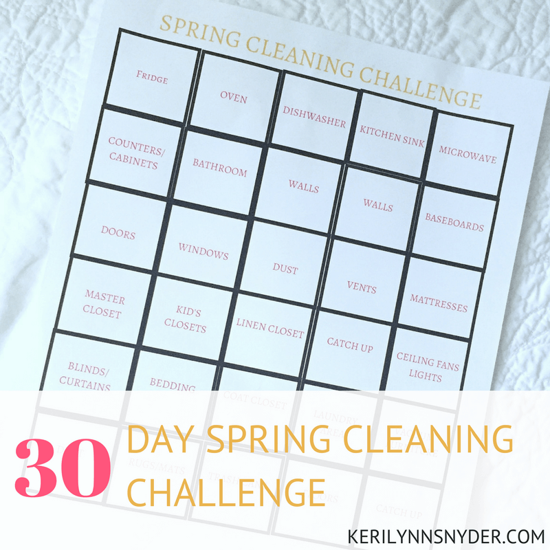 30 day spring cleaning