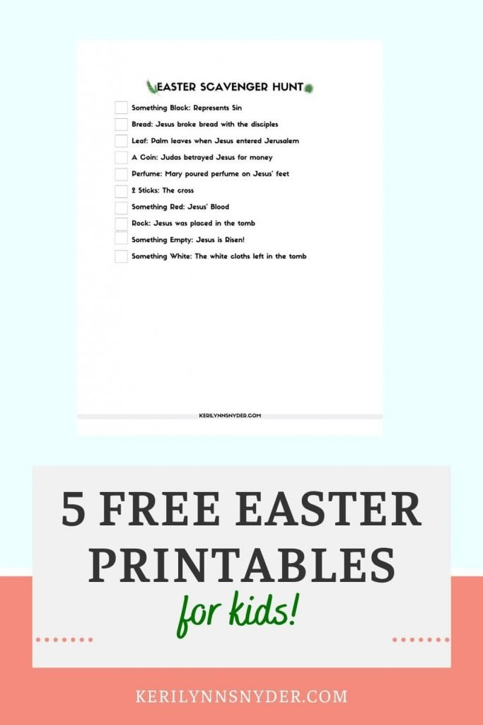 Use these 5 free Easter printables to teach your kids the Easter story.