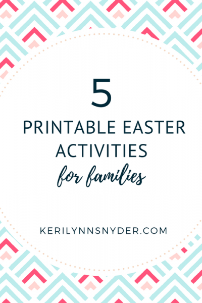 5 Easter Printable Activities