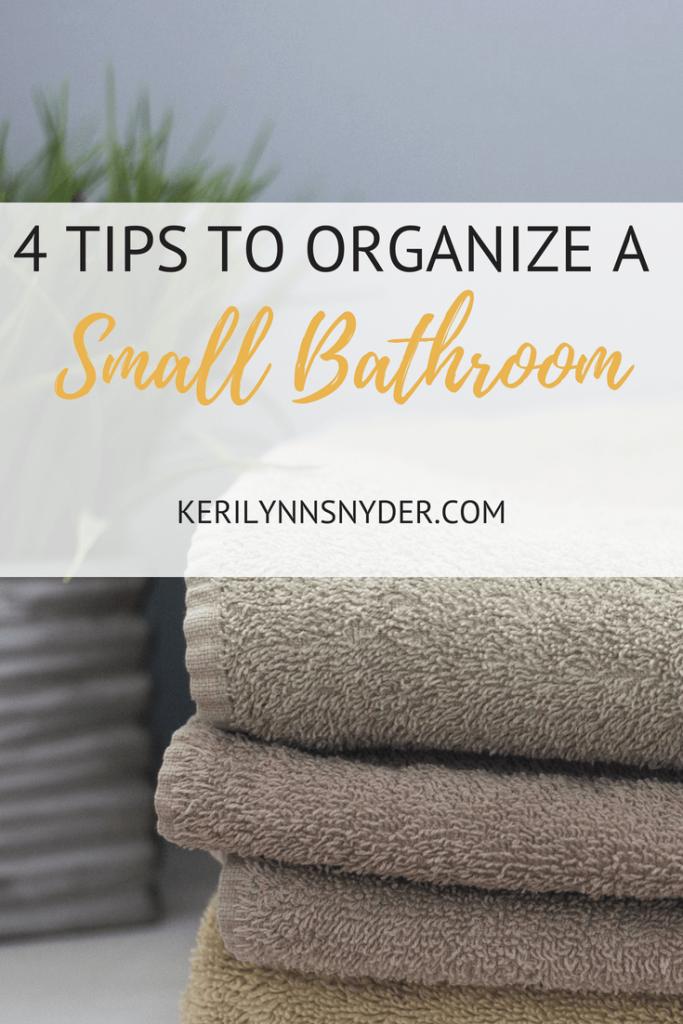 Organize Small Bathroom, Lifestyle Blogger