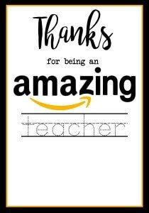 Teacher Appreciation Gifts, Printable