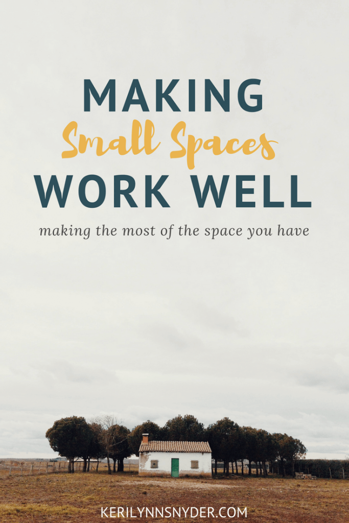 Tips for making small spaces well