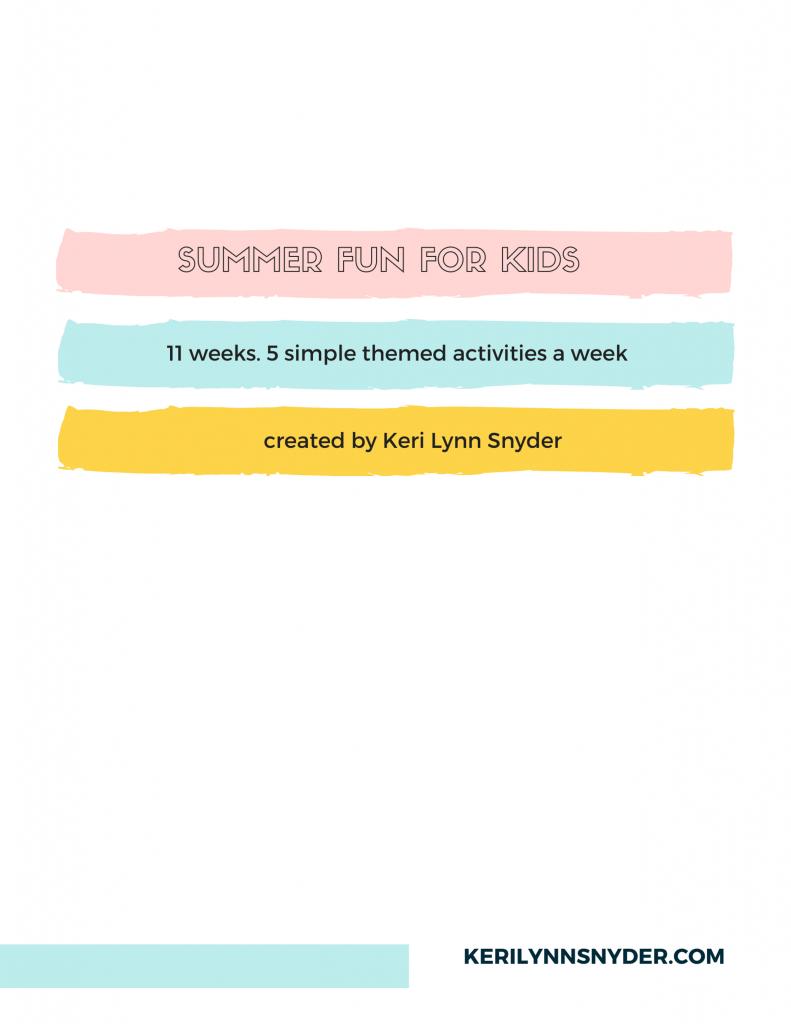 Summer Activities Plan