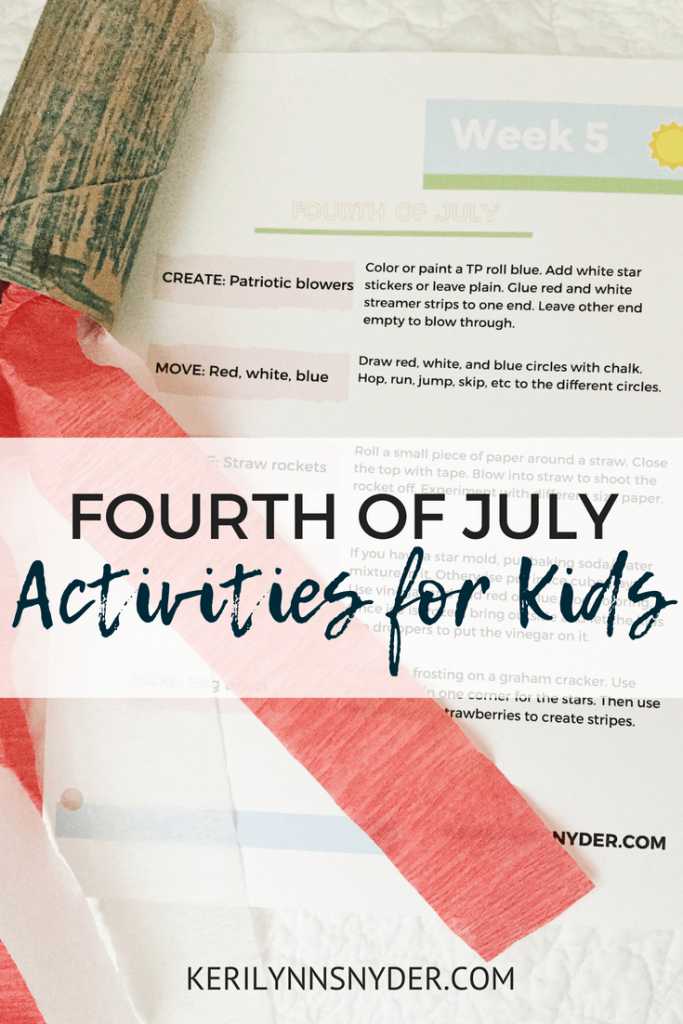 Fourth of July Activities for Kids- Lifestyle Blogger