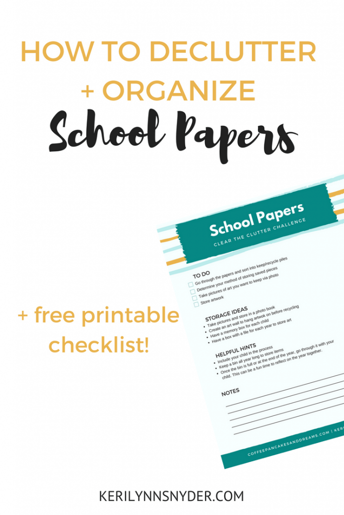 How to declutter and organize school papers, organization tips