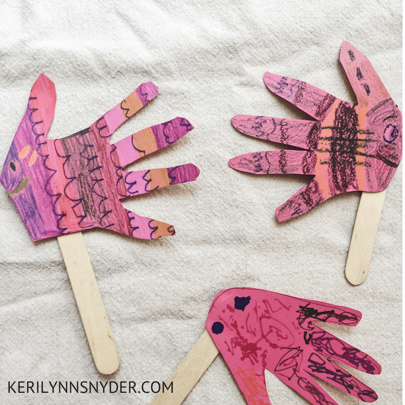 Ocean themed activities, fish hand print craft- Lifestyle Blog