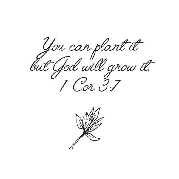 gardening grows us, bible verse, lifestyle blogger