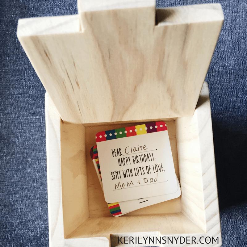 Preschool Girl Gift Ideas, Birthday Note Box, Lifestyle Blog