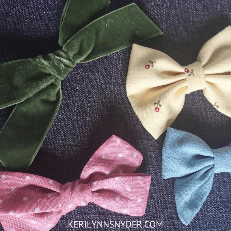 Preschool Girl Gift Ideas, Hair bow collection, lifestyle blog