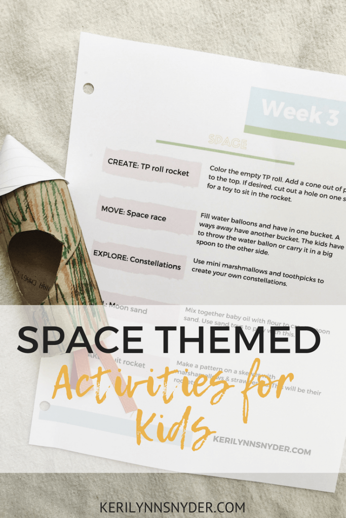 Space Themed Activities- Lifestyle blog
