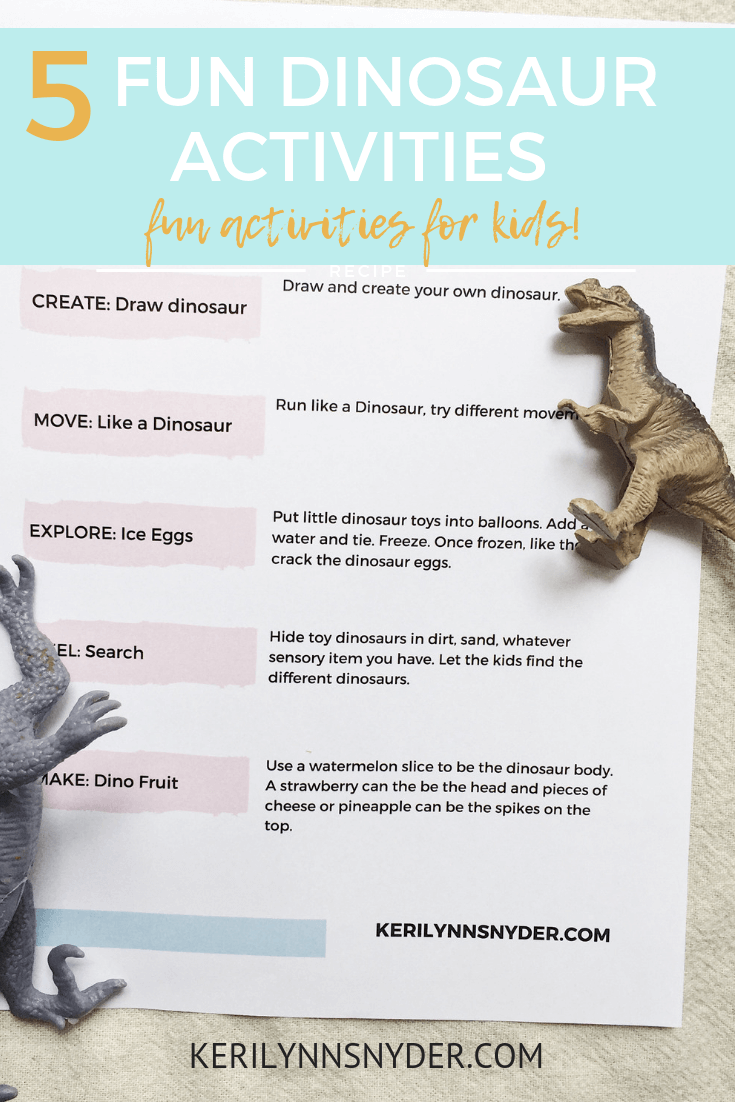 Dinosaur themed activities for kids!