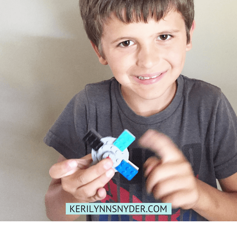 Lego Activities for Kids- Easy fidget spinner