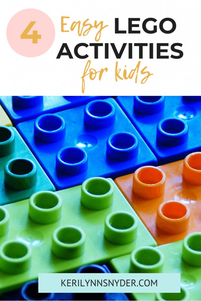 Lego Activities for kids, easy Leg building
