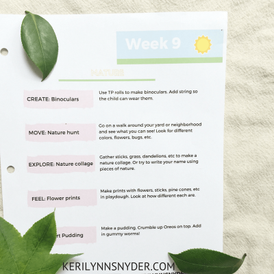 Nature Themed Activities for Kids- Free printable plan and game